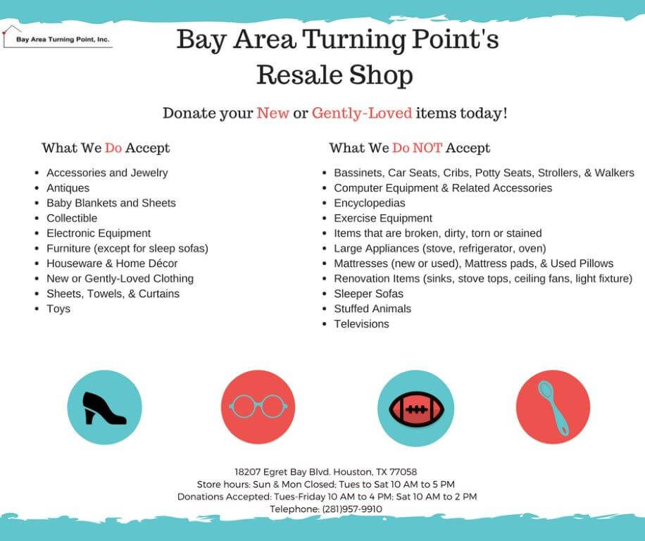 Bay Area Turning Point Resale Shop Flyer