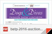 batp 2016 auction donation record
